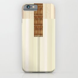 Blonde Wood Clutch with Brass Clasp iPhone Case