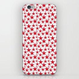 Red stars on white background illustration iPhone Skin