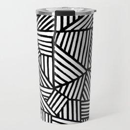 Black Brushstrokes Travel Mug
