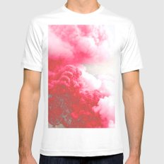 Pink Explosion Mens Fitted Tee White MEDIUM