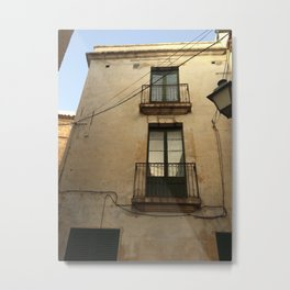 Apartment Windows Metal Print