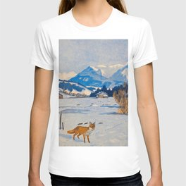 Jugend-Munich illustrated weekly for art and life - 1906 Cold Climate Snow Mountains Fox T-shirt