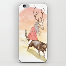 wolf and dear iPhone & iPod Skin