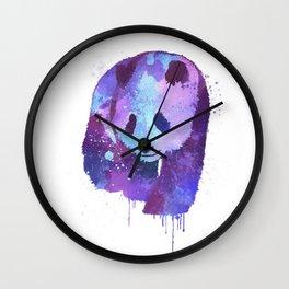 Watercolor Panda in Purple Wall Clock