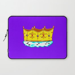 A Gold Crown with Ermine Fur Laptop Sleeve