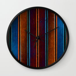 Wood in color 1 Wall Clock