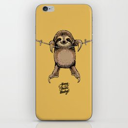 Hang in There Baby Sloth iPhone Skin