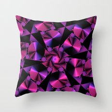 Abstract 344 a berry and black kaleidoscope Throw Pillow