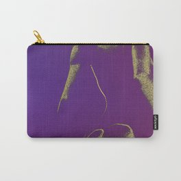 Golden Seated Goddess purple version Carry-All Pouch