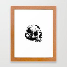 Skull DJ Framed Art Print
