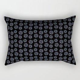 D20 Offset Crits Rectangular Pillow