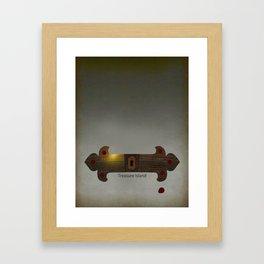 Treasure Island Minimal Poster Framed Art Print