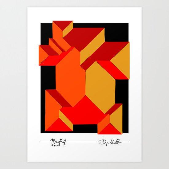 Orange roof Art Print