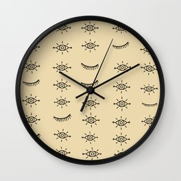 Tribal Eyes Wall Clock