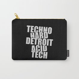 Techno subgenres list | djs gift | techno lovers Carry-All Pouch