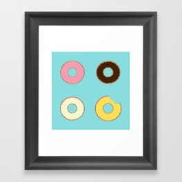 Four Doughnuts (Bitten version) Framed Art Print