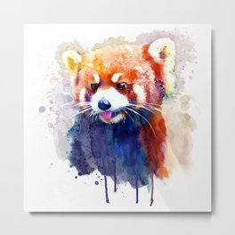 Red Panda Portrait Metal Print