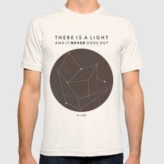 There Is A Light Natural MEDIUM Mens Fitted Tee