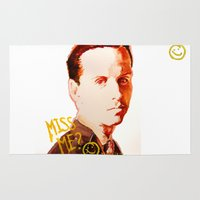 moriarty Area & Throw Rugs featuring Miss me? - Jim Moriarty by Pash Arts
