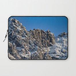 Fresh Snow-Alaskan Mountain Top Laptop Sleeve
