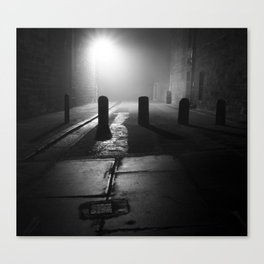 Foggy Lane Canvas Print