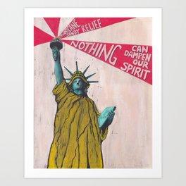 Hurricane Sandy Relief Print Art Print