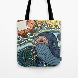 'Jonah and the Whale' Tote Bag