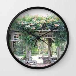 Gazebo with Lavendar Wall Clock