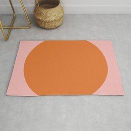 Groovy Dot Pink and Orange Minimalist Rug