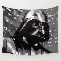 darth vader Wall Tapestries featuring Darth Vader by Berta Merlotte
