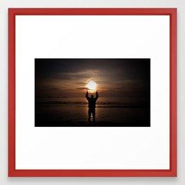 sun in my hands Framed Art Print