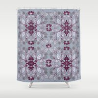 hibiscus Shower Curtains featuring Hibiscus by Azulblau