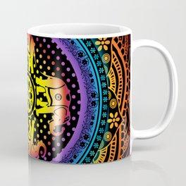 Mandala Elephants Spiritual Zen Bohemian Hippie Yoga Mantra Meditation Coffee Mug