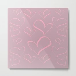 Heart shapes love romance art Metal Print