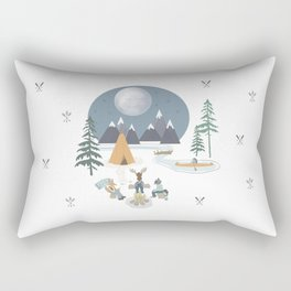 Camp Sleepy Moon (Large Print) Rectangular Pillow