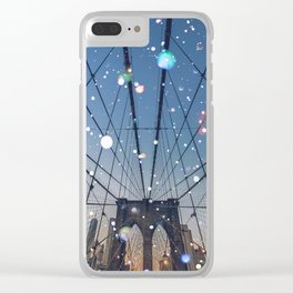 New York City Lights Clear iPhone Case