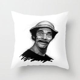 Ramon Valdez - Seu Madruga Throw Pillow