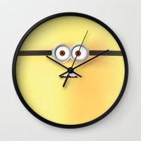 minion Wall Clocks featuring Minion by ellyonart