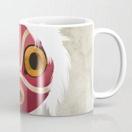 Princess Mononoke's Mask Illustration - Mayazaki, Studio Ghibli Coffee Mug