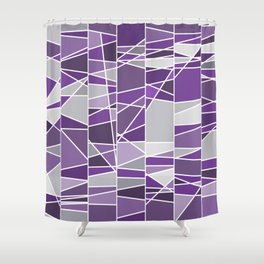 Purple and grey Shower Curtain