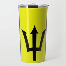 Flag of Barbados Travel Mug