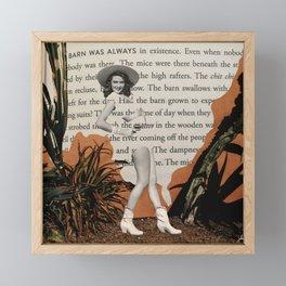 Open Book Framed Mini Art Print
