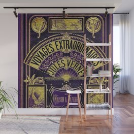 Jules Verne Voyages Extraordinaire Purple Lithographic Print by Jeanpaul Ferro Wall Mural