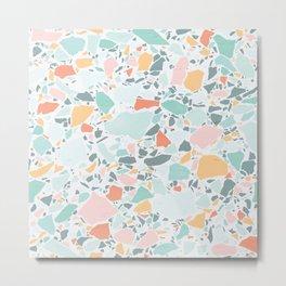 Modern Pastel Terrazzo / Ice Cream Palette Metal Print
