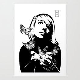 Lili + The Butterflies Art Print