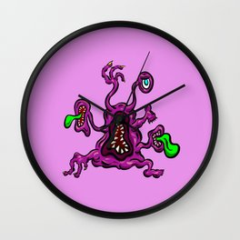Alien Wiggle Monster - Toes Wall Clock