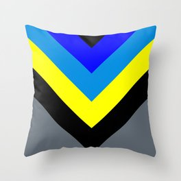 V-lines Blue style Throw Pillow