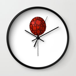 Rise Up - Little Red Balloon - Love - Children - 57 Montgomery Ave Wall Clock