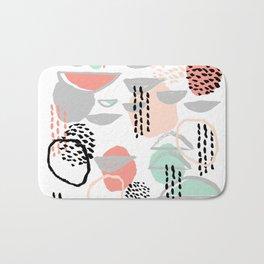 Callie - abstract minimal pastel art print texture ink hipster minimalist office or nursery Bath Mat