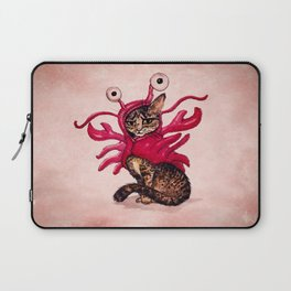 """""""Ma'ama Lisa"""" by Amber Marine ~ Lobster Cat, Watercolor and Ink, (c) 2015 Laptop Sleeve"""